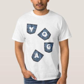 Mock Denim Pockets - Discount Yoga Shirts