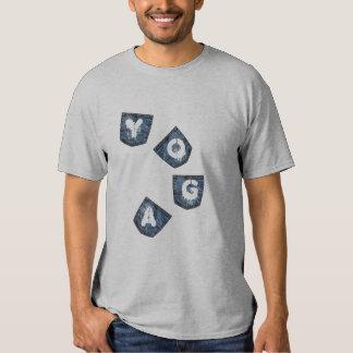 Mock Denim Pockets - Yoga T-Shirt