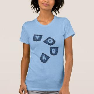 Mock Denim Pockets - Yoga T-Shirts (petite)