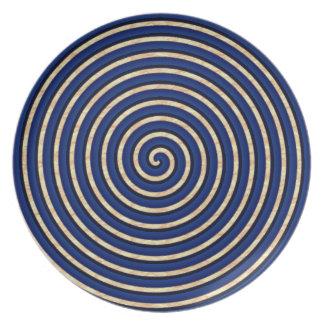 Mock-Mod-Stoneware-Blue-Everyday-Plates Plate