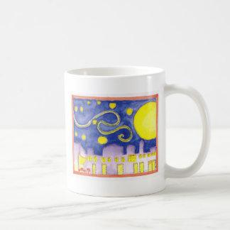 Mock Van Gogh Starry Night Cafe Coffee Mugs
