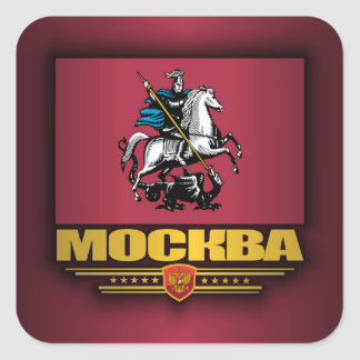 Mockba (Moscow) Flag Square Sticker