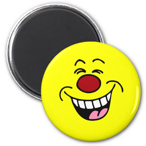 Mocking Smiley Face Smiley 6 Cm Round Magnet
