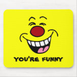 Mocking Smiley Face Smiley Mouse Mats