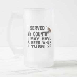 Mocking The 21 Drinking Age Frosted Glass Beer Mug