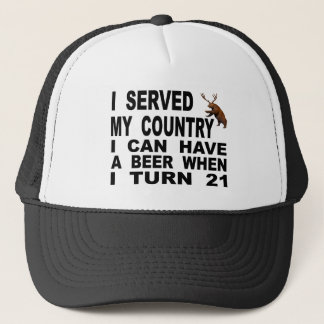 Mocking The 21 Drinking Age Trucker Hat