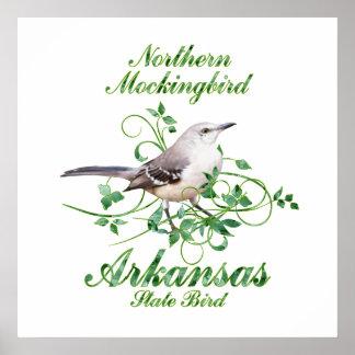 Mockingbird Arkansas State Bird Poster