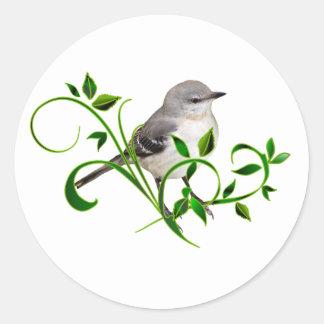 Mockingbird Beauty Classic Round Sticker