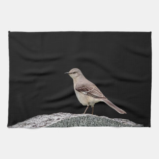 Mockingbird on a tombstone tea towel