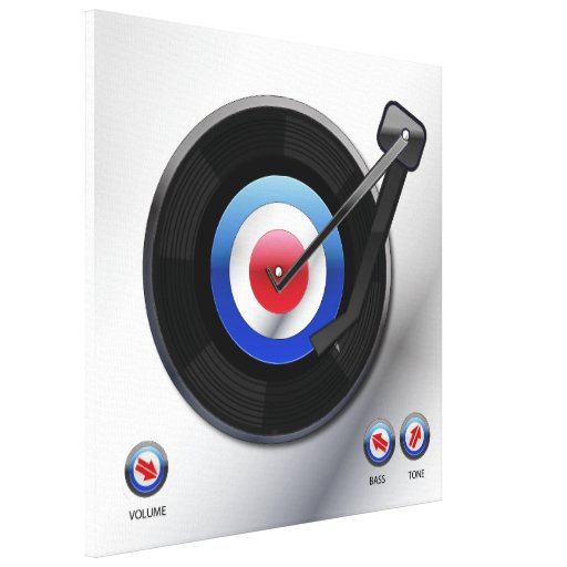 Mod 45 vinyl record player gallery wrapped canvas
