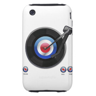 Mod 45 vinyl record player iPhone 3 tough covers