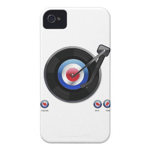 Mod 45 vinyl record player iPhone 4 Case-Mate cases