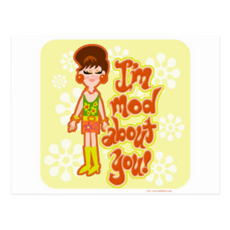 Mod About You Girl Postcard