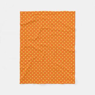 "'Mod Accents"" Orange/Yel/Polka Dots Fleece Blanket"