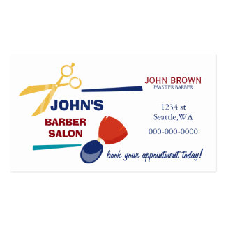 Mod barber businesscard with appointment card back pack of standard business cards