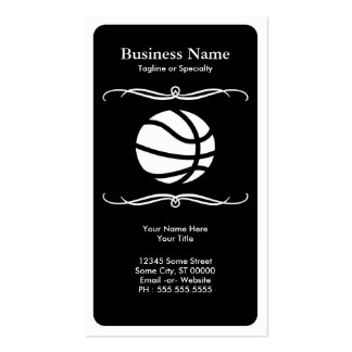 mod basketball pack of standard business cards
