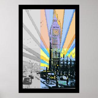 Mod Big Ben Poster