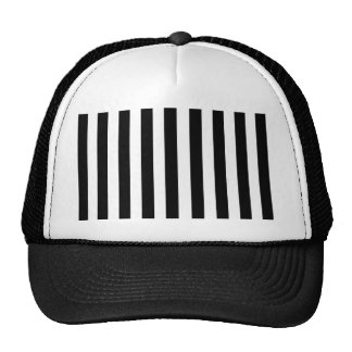 Mod Black and White Stripes Pattern Trucker Hat
