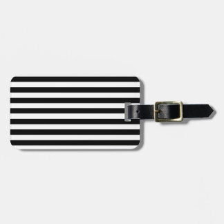 Mod Black and White Stripes Pattern Luggage Tag