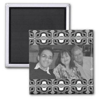 Mod black white pattern Photo Frame Magnet