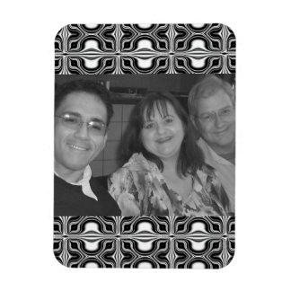 Mod black white pattern Photo Frame Magnets