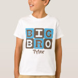 MOD Blocks Big Bro - Blue & Brown Personalised T-Shirt