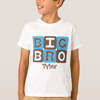 MOD Blocks Big Bro - Blue & Brown Personalized T-Shirt