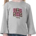 MOD Blocks Big Sis - Pink & Brown Personalised T Shirts