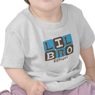 MOD Blocks Lil Bro - Blue Brown Personalized Shirt