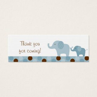 Mod Blue Elephant Party Favor Gift Tags