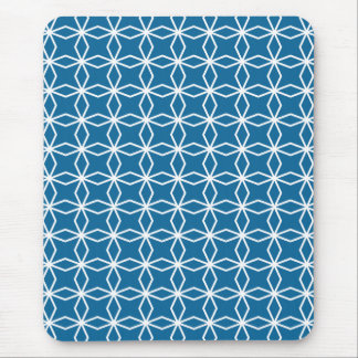 Mod Blue Geometric Pattern Mouse Mat