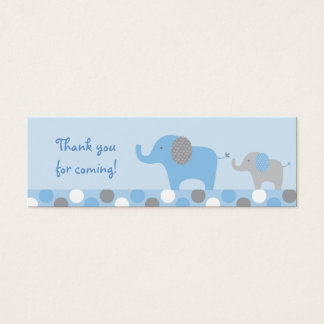 Mod Blue Grey Elephant Party Favor Gift Tags