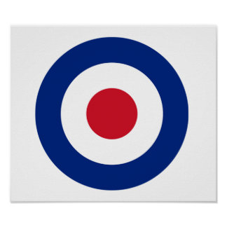 MOD Blue Red and White Poster | MOD Gifts