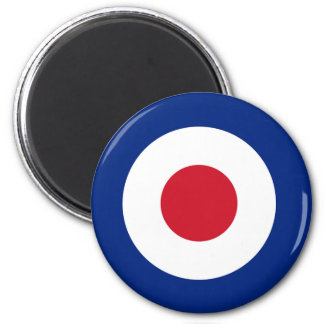 MOD Blue Red and White Round Magnet | MOD Gifts