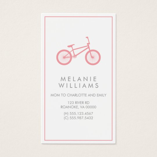 Mod Blush Pink Bicycle Business Card