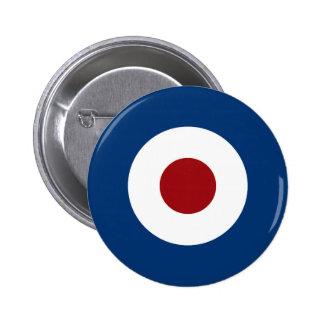 Mod Bullseye Archery Target 6 Cm Round Badge