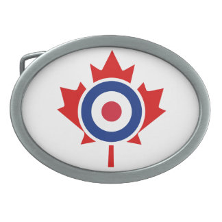 Mod Canada Curling Hockey Target Roundel Oval Belt Buckles