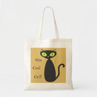 Mod Cat Tote - One Cool Cat! Budget Tote Bag