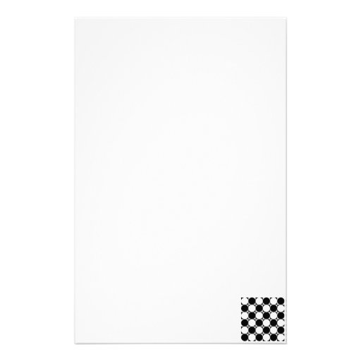 Mod Checkerboard Customized Stationery