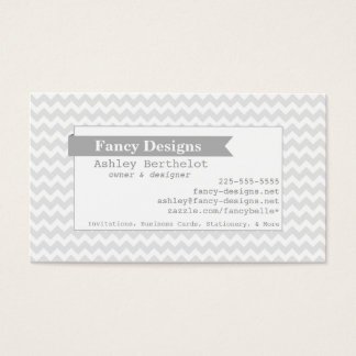 Mod Chevron Stripes Business Card