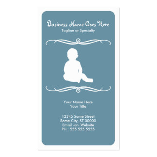 mod childcare business cards