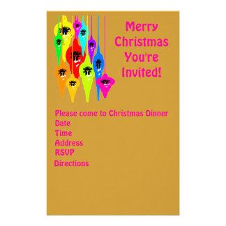 Mod Christmas Stationary Invitations Customized Stationery