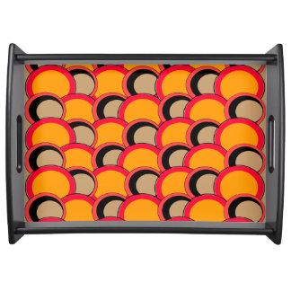 Mod Circles Orange Serving Tray