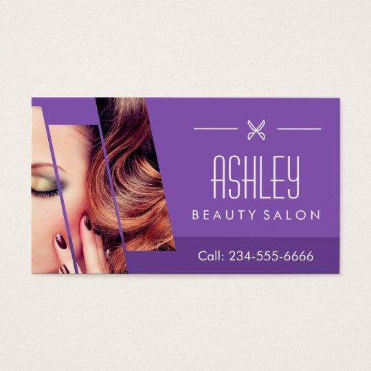Mod Classy Purple Fashion Girl Makeup Hair Salon