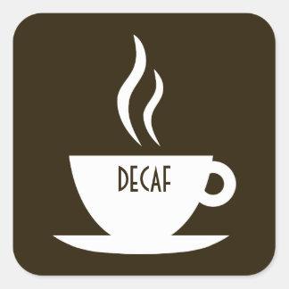 mod coffee : decaf square sticker