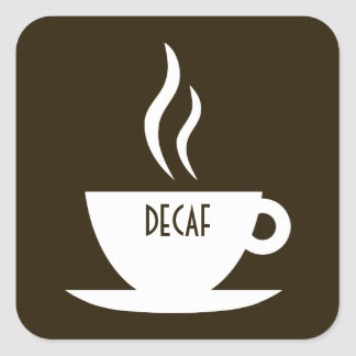 mod coffee : decaf square stickers