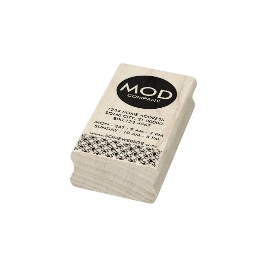 mod company business card rubber stamp