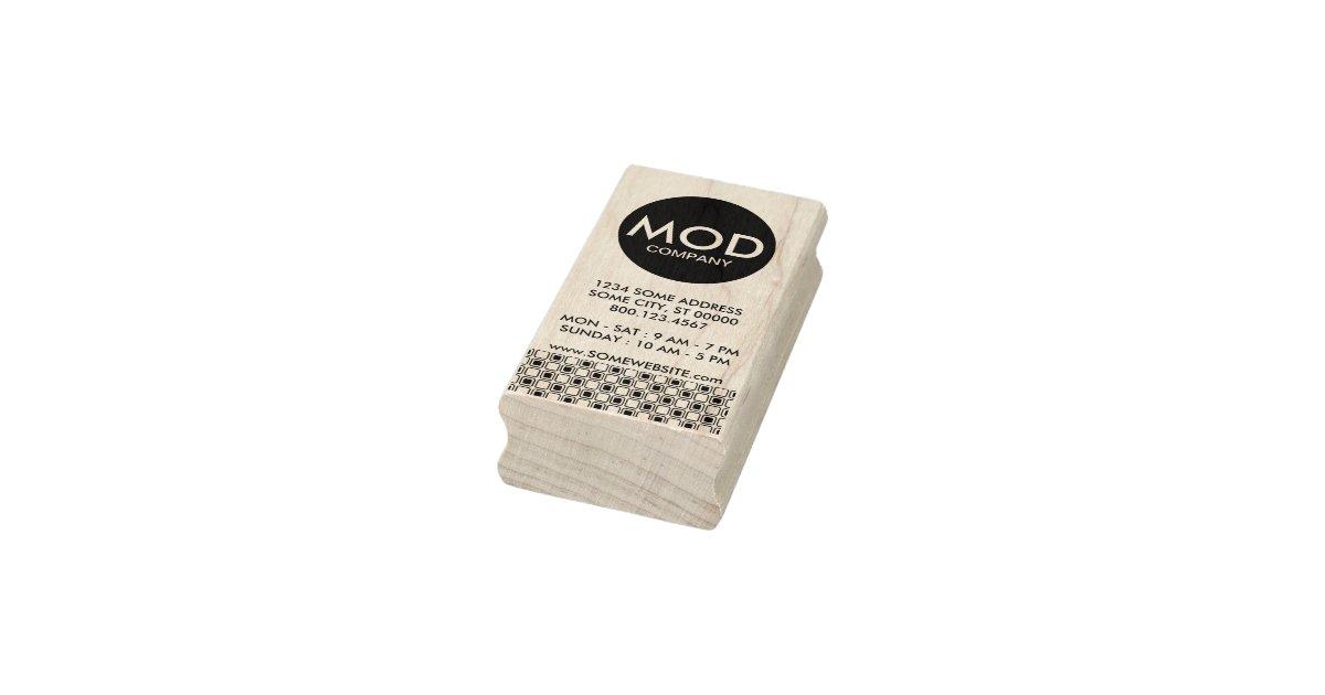 mod company business card rubber stamp | Zazzle.co.uk