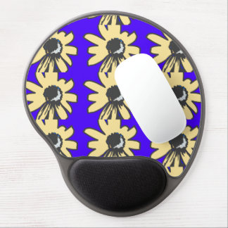 Mod Daisy blue and yellow Gel Mouse Pad