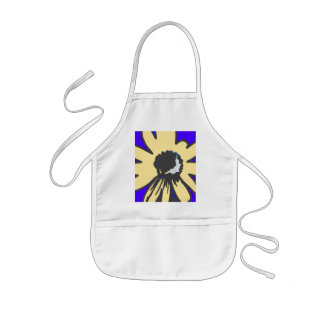 Mod daisy, blue and yellow   HEVi Fineart Aprons
